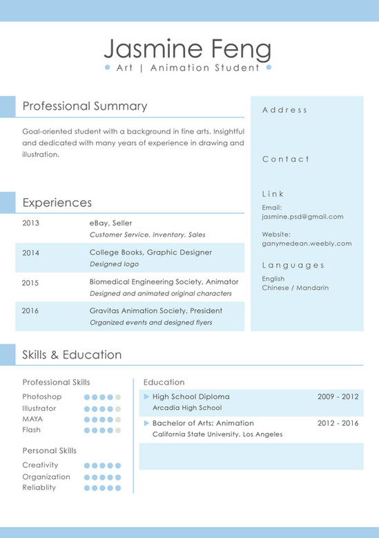 Indesign Resume Template Indd
